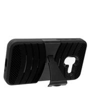 Insten Wave Symbiosis Armor Hybrid Hard Stand Protective Case Back Cover For Alcatel Stellar / Tru - Black
