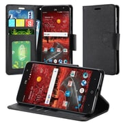 Insten Book-Style Leather Fabric Cover Case w/stand/card slot/Photo Display For ZTE Grand X 4 - Black