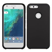 Insten Hard Hybrid Rubber Coated Silicone Cover Case For Google Pixel XL - Black