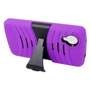 Insten Wave Symbiosis Rubber Hard Cover Case w/stand For LG Google Nexus 5 D820 - Purple/Black
