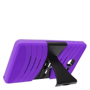 Insten Wave Symbiosis Armor Hybrid Hard Stand Protective Case Back Cover For Alcatel One Touch Pop 7 - Purple/Black