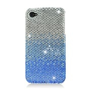 Insten Hard Bling Cover Case For Apple iPhone 4 4S - Blue/Silver