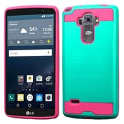 Insten Hard Hybrid Dual Layer Rubber Silicone Case For LG G Stylo/G Vista 2 - Green/Hot Pink