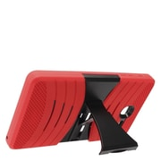 Insten Wave Symbiosis Armor Hybrid Hard Stand Protective Case Back Cover For Alcatel One Touch Pop 7 - Red/Black