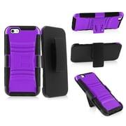"Insten Black/Purple Impact Hybrid Case Belt Clip Holster For Apple iPhone 6 6th 4.7"""