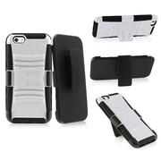 "Insten Black/White Impact Hybrid Rugged Hard Shockproof Case Belt Clip Holster for iPhone 6 6S 4.7"""