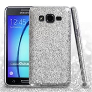 Insten Hard Hybrid Glitter TPU Case For Samsung Galaxy On5 - Silver
