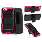 """Insten Pink/Black Impact Hybrid Rugged Hard Shockproof Case Belt Clip Holster for iPhone 6 6S 4.7"""""""