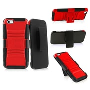 "Insten Black/Red Impact Hybrid Rugged Hard Shockproof Case Belt Clip Holster for iPhone 6 6S 4.7"""