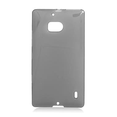 Insten Transparent Frosted TPU Rubber Candy Skin Case Back Cover For Nokia Lumia 929 - Black