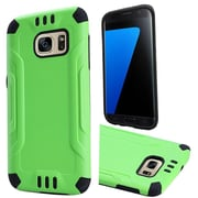 Insten Hard Hybrid Rubber Coated Silicone Case For Samsung Galaxy S7 - Green/Black