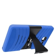 Insten Wave Symbiosis Armor Hybrid Hard Stand Protective Case Back Cover For Alcatel One Touch Pop 7 - Blue/Black