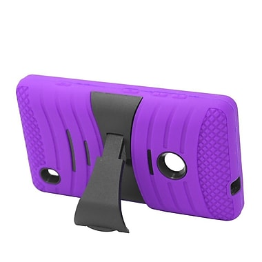 Insten Wave Symbiosis Soft Dual Layer Rubber Hard Case with stand For Nokia Lumia 520 - Purple/Black