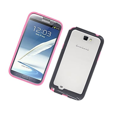 Insten TPU Bumper Case For Samsung Galaxy Note 2 II - Hot Pink/Black