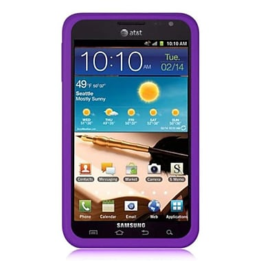 Insten Silicone Skin Gel Back Soft Case Cover For Samsung Galaxy Note - Purple