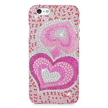 Insten Hearts Hard Diamond Cover Case For Apple iPhone 6 / 6s - Pink