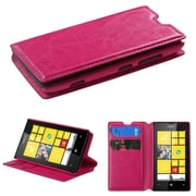 Insten Hot Pink MyJacket Wallet Leather Case (with Tray & Package) For NOKIA Lumia 520