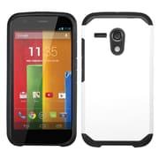 Insten Hard Hybrid Rugged Shockproof Rubberized Silicone Case For Motorola Moto G(1st Gen) - White/Black