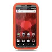 Insten Premium Silicone Skin Gel Back Soft Case Cover For Motorola Droid Bionic XT875 - Orange