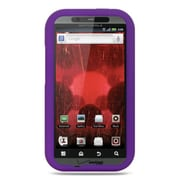 Insten Premium Silicone Skin Gel Back Soft Case Cover For Motorola Droid Bionic XT875 - Purple