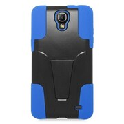 Insten Hard Hybrid Plastic Silicone Case with stand For Samsung Galaxy Mega 2 - Blue