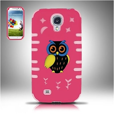Insten Owl Hot Pink/Pink Glow PC/SC Owl 3D Design Case Cover For Samsung Galaxy S4 24099104