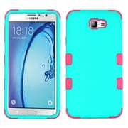 Insten TUFF Hybrid Dual Layer Protective Case [Military-Grade] For Samsung Galaxy On7 (2016) - Teal Green/Electric Pink