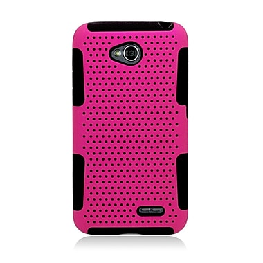Insten Astronoot Hard Hybrid TPU Case For LG Optimus L70 / Optimus Exceed 2 VS450PP/Realm - Hot Pink/Black