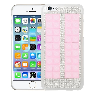 Insten Hard 3D Bling Cover Case For Apple iPhone 6 / 6s - Pink/Silver