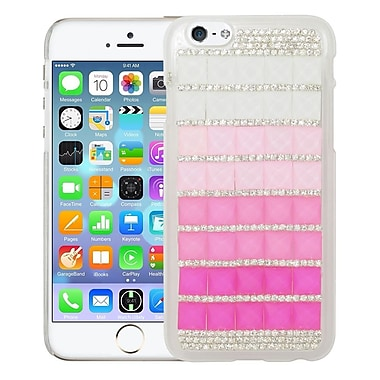 Insten Hard 3D Rhinestone Cover Case For Apple iPhone 6 / 6s - Pink/Silver