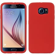 Insten Silicone Skin Gel Back Soft Case Cover For Samsung Galaxy S6 - Red
