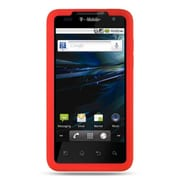Insten Premium Silicone Skin Gel Back Soft Case Cover For LG G2x - Red