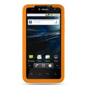 Insten Premium Silicone Skin Gel Back Soft Case Cover For LG G2x - Orange