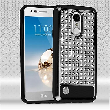 Insten Diamante FullStar Hybrid Protective Cover Case For LG Aristo / Fortune / K8 (2017) / LV3 / Phoenix 3 - Black