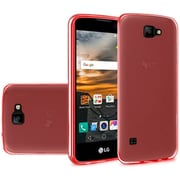 Insten Frosted Rubber Cover Case For LG K3 - Red