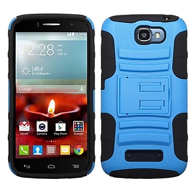 Insten Hard Dual Layer Rubber Coated Cover Case w/stand For Alcatel One Touch Fierce 2 7040T - Blue/Black