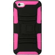 Insten Hybrid Hard Dual Layer Case Cover with Holster Clip For Apple iPhone 6s Plus / 6 Plus - Black/Hot Pink