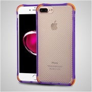 Insten Gel Cover Case For Apple iPhone 7 Plus - Purple/Orange