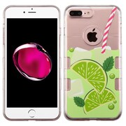 Insten Gel Case For Apple iPhone 7 Plus - Clear/Green