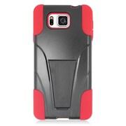 Insten Hard Dual Layer Plastic Hybrid Case For Samsung Galaxy Alpha - Red