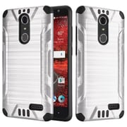 Insten Hard Dual Layer TPU Case For ZTE Grand X 4 - Silver