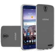 Insten Frosted Rubber Case For ZTE Grand X 4 - Clear