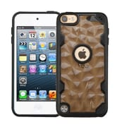 Insten Polygon Hard TPU Cover Case For Apple iPod Touch 5th Gen/6th Gen - Smoke/Black