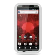 Insten Premium Silicone Skin Gel Back Soft Case Cover For Motorola Droid Bionic XT875 - White