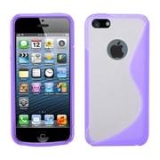 Insten S Shape Gel Clear Cover Case For Apple iPhone SE / 5 / 5S - Purple