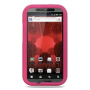 Insten Premium Silicone Skin Gel Back Soft Case Cover For Motorola Droid Bionic XT875 - Hot Pink
