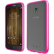Insten Gel Cover Case For Alcatel One Touch Allura/Fierce 4/Pop 4+ - Clear/Hot Pink