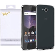 Insten Frosted Rubber Case For ZTE Tempo - Black