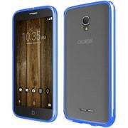 Insten Gel Case For Alcatel One Touch Allura/Fierce 4/Pop 4+ - Clear/Blue