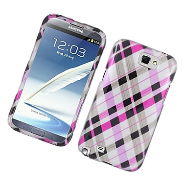 Insten Checker Hard Cover Case For Samsung Galaxy Note 2 II - Pink/Black